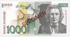 Slovenia 1000 Tolarjev 1-6-1993 Pick 18.s UNC Uncirculated Banknote Specimen ZZ