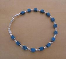 """Turquoise Beaded Fine Gemstone Bracelets 7.5 - 7.99"""" Length"""