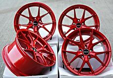 "19"" CRUIZE GTO ALLOY WHEELS CANDY APPLE RED STAGGERED CONCAVE 19 INCH ALLOYS"