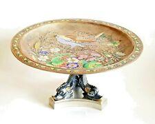 Fine 19C French Gilt Bronze Enamel Tazza Barbedienne