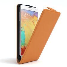 Tasche für Samsung Galaxy Note 3 Neo Flip Case Schutz Hülle Cover Orange