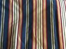 Jcpenney Home Collection Blue Tan Gold Red Green Stripe Euro Pillow Sham New!
