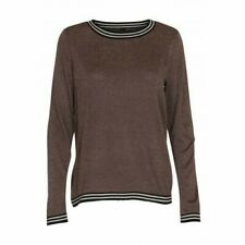 '* Soya Concept Maylin 2 Knit Long Sleeve Jumper Toffee Brown Womens Size L