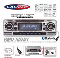 Autoradio Vintage Look Retro USB/SD (Sans Lecteur CD) Bluetooth RMD120BT Caliber