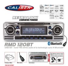 Autoradio Vintage Look Retro USB/SD (Sans Lecteur CD) Bluetooth RMD120BT Caliber