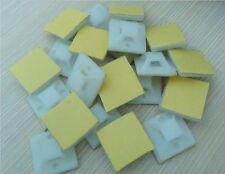 10 PLACCHE fermacavo adesive fascette stringicavo cavo fissaggio supporto vite