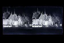 Pavillon du Cambodge Asie Exposition coloniale Paris 1931 Plaque stéréo