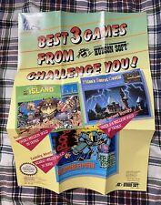 Hudson Soft Nintendo Poster Ad Insert NES Bomberman Adventure Island