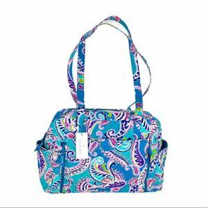 Vera Bradley Diaper Bag Waikiki Paisley Blue, Purple