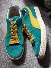 Verde y Amarillo Zapatillas para hombre Puma Gamuza Talla 9.5 Reino Unido Retro
