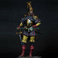 Unpainted 1/24 75mm Stand Ancient Warrior Garage Kits Resin Figure Model Statue