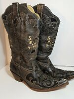 Corral Vintage Boots size 10M Women Snake Goat Skin Cowboy Cowgirl Western Rodeo