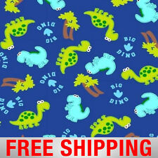 """Baby Dinosaurs Fleece Fabric - 60"""" Wide - Style# 35979 - Free Shipping!!"""