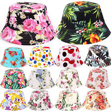 100% Cotton Adults Bucket Hat - Summer Fishing Boonie Beach Festival Sun Cap UK