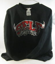 new CHICAGO BLACK/RED CREW SWEATER HORNS  SELF MADE SIZE  XL-TG  46-48  ***