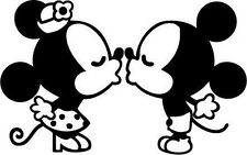 """MINNIE AND MICKEY- Kissing!! -vinyl decal  5"""""""