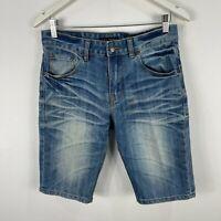 Nudie Jeans Mens Denim Shorts 29 Blue