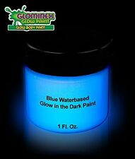 Glominex Glow in the Dark Face and Body Paint 1 oz Jar - Blue