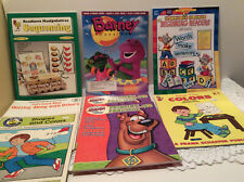8 Work Books For Preschool Kindergarten Shapes,Colors,Letters All New Old Stock