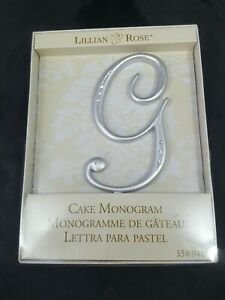 "Lillian Rose Cake Monogram ""G"" 5.5"" Wedding Cake Topper Decoration"