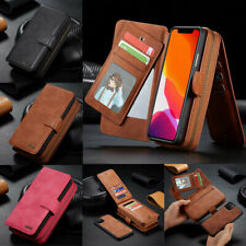 Luxury Flip Handy Wallet Leather Removable Case Cover For iPhone 11 12 Pro Max X