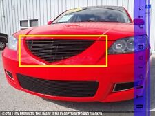 GTG 2007 - 2009 Mazda 3 Sedan 1PC Gloss Black Upper Replacement Billet Grille