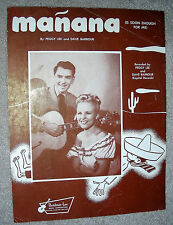 1948 MANANA (Is Soon Enough for Me) Sheet Music by PEGGY LEE, DAVE BARBOUR