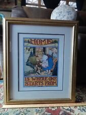 Mary Engelbreit_Ts Eliot ~Home is Where One Starts From (21''x25'& #039;) Framed Print