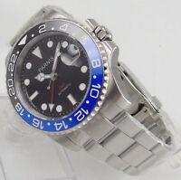 40mm Parnis Black Dial Sapphire glass GMT Date Automatic Movement men's Watch