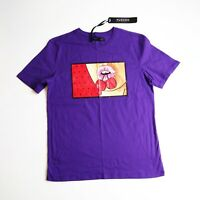 Men Hudson 100% authentic short sleeve t-shirt size large purple cherry