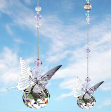Crystal Suncatcher Butterfly Window Pendant Glass Hanging Ornament with Gift Box