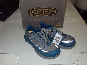 Men's KEEN Utility  Asheville Aluminum Toe ASTM F2413-1 Teal Safety Sneaker 10W