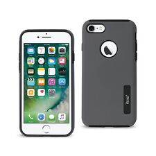2x iPhone 7 Plus Heavy Duty Slim Dual Layer Armor Protective Hybrid Case Gray