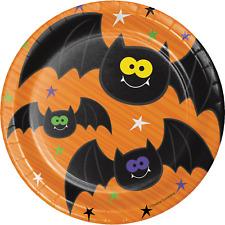 "7"" Halloween Paper Plates, Halloween Party, Trick or Treat, Halloween Decoration"