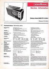 Service Manual-Anleitung für Nordmende Galaxy Mesa 9000 Stereo, 2.100 A