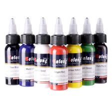 Solong Tattoo Ink 7 Colors Set 1oz 30ml each Bottle Top Tattoo Pigment Kit TI302