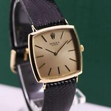 ULTRA THIN ROLEX GENEVE 3514 18K SOLID YELLOW GOLD MANUAL WIND MEN'S WATCH