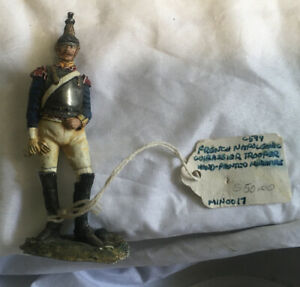 Vintage Hand Painted Miniature French Napoleonic Trooper Metal Lead Soldier
