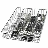 Chrome Cutlery Basket Kitchen Untensil Drainer Storage Holder Washing Sink Tidy