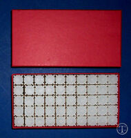 50 PENNY-CENT SIZE SQUARE Coin Tubes in Heavy Duty Storage Box- COIN SAFE