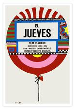 Cuban movie Poster for Italian film El JUEVES.Thursday Balloon.Home Decor Art