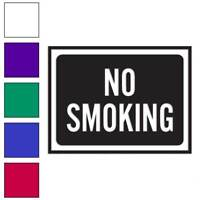 No Loitering Decal Sticker Choose Color Size #2547