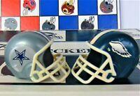 Vintage NFL Philadelphia EAGLES/ DALLAS COWBOYS  FOOTBALL HELMET CHECKERS W/Box