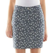 Croft & Barrow Womens 4 SKORT Blue Chambray Sailboats Secretly Slimming NEW $40