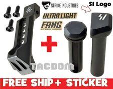 Strike Industries FANG Black Aluminum Trigger Guard + Ultralight Pivot Pins take