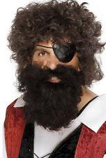 Piratas Barba de lujo Marrón NUEVO - CARNAVAL Barba Revestimiento