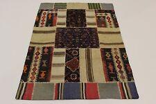 nomades patchwork délavé look antique PERSAN TAPIS tapis d'Orient 1,78 x 1,22