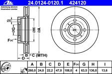 Bremsscheibe (2 Stück) - ATE 24.0124-0120.1