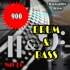 🥇 Drum and Bass samples and loops pack, 900 Hq Wav, Audio, Fl Studio, Daw,music