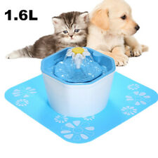 1.6L Automatic Pet Fountain Dog Cat Water Drinking Feeder Bowl Dispenser US J8D4